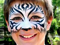 Creative face painting for children