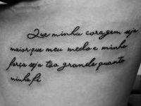 1000  Images About Uma Tatuagem On Pinterest Tiny Tattoo Fonts And