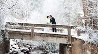 Winter Weddings / It is never too early to plan your winter wedding. Even if it is roasting hot outside, you can imagine the snowflakes falling on your face as you say yes.