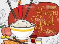 Hungry Ghost Festival / Happy Ghost Festival (Zhong Yuan Jie or Yu Lan Jie in  Chinese)! Foods, money and more offerings for the ancestors in this Asian holiday in our commemorative illustrations. Find and buy our vector illustrations in Shutterstock, Fotolia, iStock, Dreamstime and DepostiPhotos!