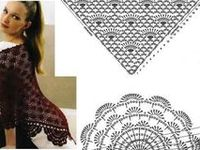 Chales - pashminas - crochet