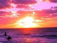 Pink, orange and purple