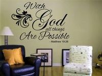 Wall Art and Quotes / Vinyl wall art and quotes can embellish your home with your personal decor.