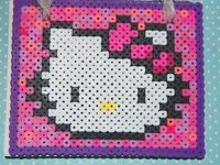 Hello Kitty aus Bügelperlen - Hama & Perler beads