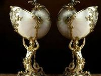 Nautilus Shell Centerpiece / Cups / Lamps / Art / Shell Cameos