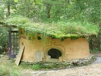 Cob house, earthship, cabins and cottages