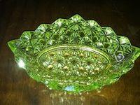 Green depression glassware