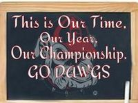 THE GREATEST COLLEGE TEAM EVER; THE GEORGIA BULLDOGS!!  ♥  SIC EM, WOOF WOOF WOOF!!!  DEDICATED TO MY DAD, HJ FOWLER- HE LOVED THE DAWGS!!