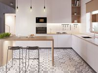 contemporary kitchen space / sleek, minimalist design
