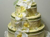 Gifts on pinterest diaper cakes towel cakes and baby headbands