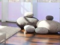 South African Rock Cushions / Handmade seamless rock pillows made by Ronel Jordaan in South Africa from 100% felt wool Dimensions (lxwxh): tiny 10 x 8 x 5  small 16 x 12 x 8  medium 19 x 19 x 12  large 29 x 27 x 17  x-large 35 x 33 x 21  Available in cream, sand, brown, light grey, medium grey, dark grey, charcoal Custom color and sizes available, outdoor version available