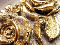 Gold Leaf on Pinterest   Silver Leafing, Paris Grey and Gold Leaf