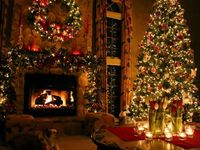 Christmas homes decorated