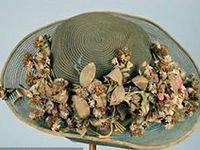 """""""The fashionable female hat is nothing, after all, but a caprice.  Let those who pay for it - fifty dollars more or less - grumble about the cost.  We, as spectators, shall be satisfied if it prove an ornament.""""  Harpers Bazaar 1857"""