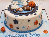 Sports theme baby shower