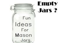 Here's some craft that you can do with your empty jars