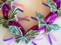 Origami/Money leis