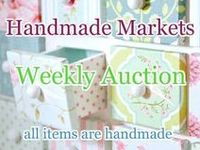 Auctions 2016 / Monthly Auctions hosted by Handmade Markets and The Oz Material Girls. https://www.facebook.com/HandmadeMarkets