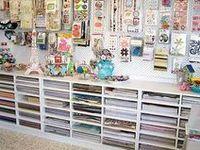 Craft room set up ideas.