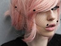Different hairstyles inspired by the color PINK