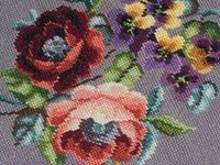 Cross Stitch, Berlin Wool Work, Antique Needlepoint Floral