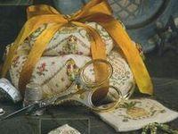 Pillows, Biscornus, Cushions, Pincushions, Foot Chairs,Hardangers, etc.