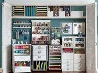 Components of my dream studio or craft room as well as ideas for yarn storage
