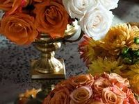 Fall ~ leaves ablaze with rich colors of gold, cranberry, pumpkin, copper and bronze...  Autumn Wedding is about an elegant evening wedding with the translation of these beautiful colors.