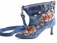 DENIM aprons, bags, and shoes