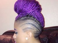 Purple Crochet Box Braids : ... :) on Pinterest Purple hair, Purple box braids and Crochet braids