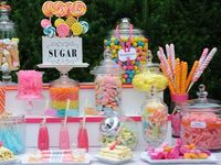 """Candy Bars, Dessert Buffets, Party tables full of gorgeous, stunning displays of sweets!! At Italian Weddings we call it the """"VIENNESE HOUR""""!"""