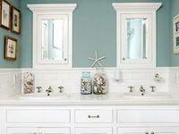 1000 images about cool bathrooms on pinterest shaker for Manhattan beige paint color