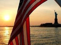 America! America! God shed his grace on thee!  And crown thy good with brotherhood,  from sea to shining sea!