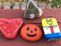Amazing Wendover Rocks / Painted rocks to hide around our little town. When they are found they can be relocated or kept. Just something to make someone smile!