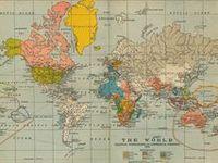 mapas y globos