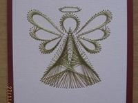 Spirelli, string art and stitched cards