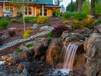 Waterfalls, ponds, koi ponds, water features, pools, spas -