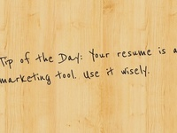 Learn how to pin point your resume in the right direction!