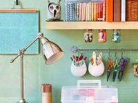 Творческий рабочий кабинет / Идеи для оформления интерьера креативного пространства для творческой работы.