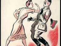 Gender & WWII Posters / WWII Government Posters featuring female gender roles & sterotypes to promote the war effort