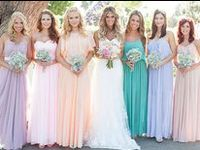 It doesn't have to be all about matching, mix it up and let your bridesmaids' personalities show through!