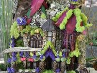 Ideas to build a fairy house by the lake