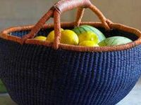 Baskets are useful  in every room of the house, and most of them have a character all their own, creating style and warmth.