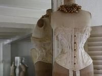 Mannequins / dress forms and corsets new and vintage.  Oh how I would love to have one of these in my house