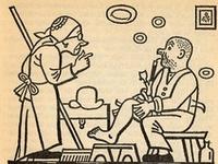 """Schweik by Josef Lada / Иллюстрации Й. Лады к роману Я. Гашека """"Похождения бравого солдата Швейка""""."""