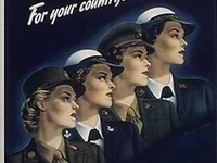 During WWII, 200,000 women served in the US military in the WAAC/WAC (Army), WAVES (Navy), Spars (Coast Guard), and Lady Marines.