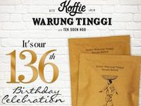 Koffie Warung Tinggi / Opened a shop in 1878 as a modest traditional convenient store (warung) on Moolen Vhiet Oost in the Colonial Dutch-era Batavia now Jalan Hayam Wuruk in Jakarta, Warung Tinggi is now owned by the 5th generation of its founder, Liauw Tek Soen. Koffie Warung Tinggi - Grand Indonesia West Mall Level 5. https://twitter.com/Koffiewtopco