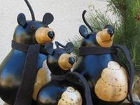 Hand painted gourds/birdhouses