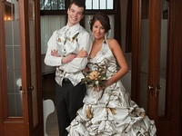 Wedding fashion, decor and ideas that incorporate camo