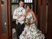 Wedding fashion, decor and ideas that incorporate camo